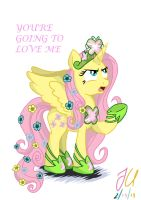 Annoyed Princess Fluttershy by teammagix