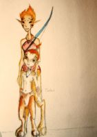 Faun family~ mother and child by Reenin