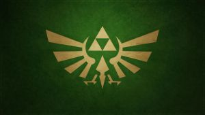 Minimalistic Green Triforce wallpaper by Createvi