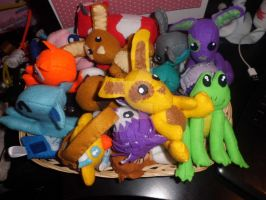 Basket full of plushies :) by Mandy-Lou-Plushies