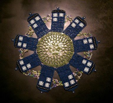 Tatted TARDIS Doily by Dorothy-T-Rose