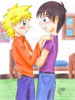 Craig and Tweek x3 Thihi by eikosalia
