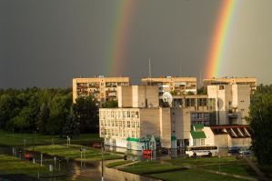 Rainbow in Chernogolovka by r3code