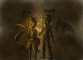 haya and edward paints by hugfiend