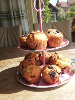 blueberry muffins by letther