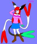Emily as an Espeon Remake by Bioblood