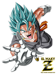Vegetto FNF Super Saiyan Blue God by el-maky-z