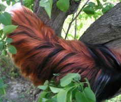 Red fox yarn tail by Ibbins