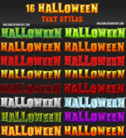 16 Halloween Text Styles by AnilCorn