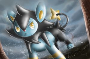 Luxio - Shining Forest Art by nintendo-jr