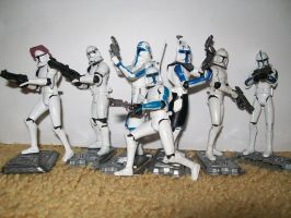Captain Rex and the 501st by blackout17