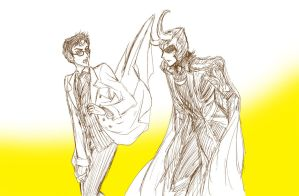 Doodle : Doctor and Loki by baronpluto