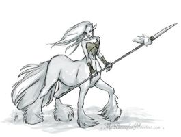 Female Centaur Warrior by MyBeautifulMonsters