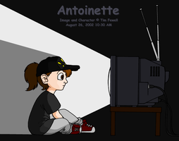 Antoinette watching TV by Timothius