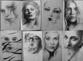 Pen portraits by Goran-Alena