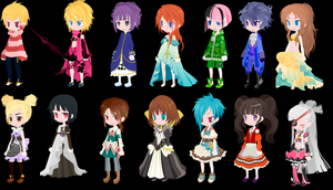 free selfy adopts pack 12 (1/14 open) by mermagic-adopts