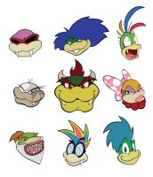 The Royal Koopas by vergeofsanity