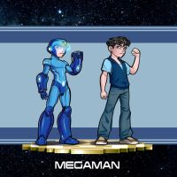 Mega Man Redesign by AdamWithers