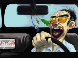 Athenean Taxi Driver Doodle by Cgko