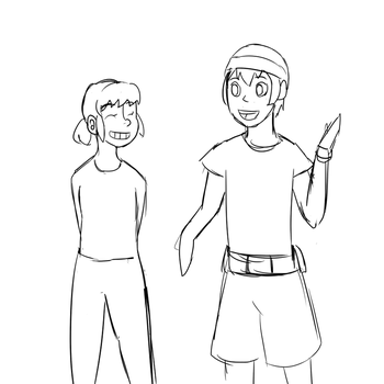 Piper And Jason (sketch wip) by vera-san
