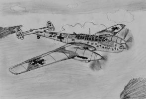 Me BF-110G by warrior1944