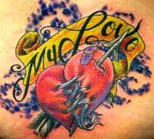 a tattoo for a mended heart by DW3D