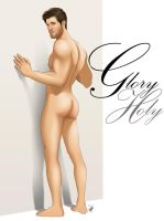Sexy Male Pinup Muscly Butt Glory Hole Hunk by eddiechin