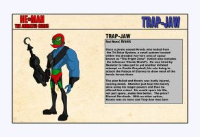 Trap-Jaw - Character Design by shubcthulhu