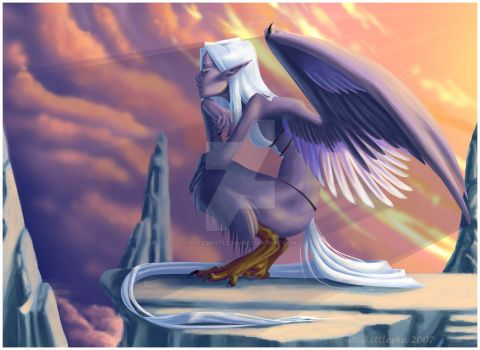 Pensive Harpy Edit by cuteskittles4u