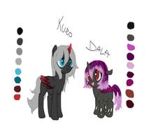 Kuro and Dala by Loveponies89