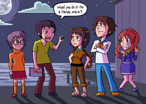 The Haruhi Gang by captainsponge