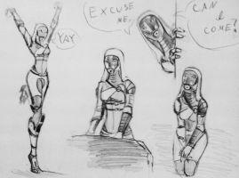 sketches Tali (119) by spaceMAXmarine