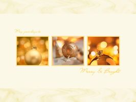 Golden Christmas Wallpaper by Fritters