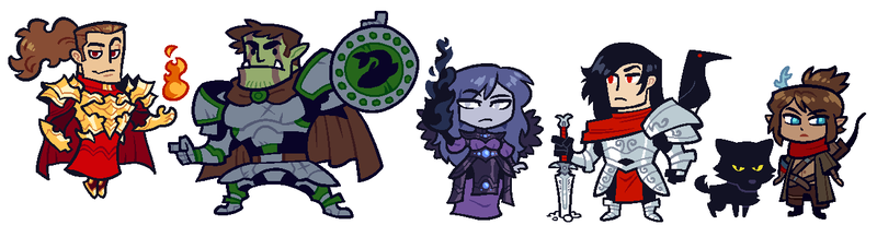 COMMISSION: DnD Group 4 by Cubesona
