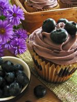 Blueberry Cupcakes by SkuttyWan