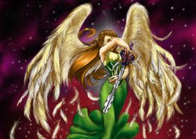 Angel of Time and Stars by jameson9101322