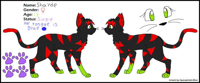 Shayde Reference by Shaydetehkat