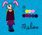 Melina reference sheet by Danathekitsune