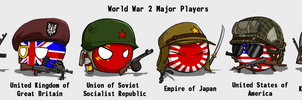 Country-Balls #1 Major Players of World War II by xshot01