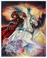 Knight of Cups - 78 Tarot Carnival by Hollow-Moon-Art
