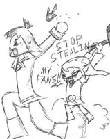Linebeck pwns Link by takanuva14