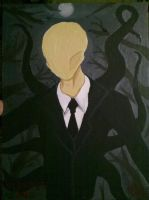 Slender Man Portrait by Garrett7392