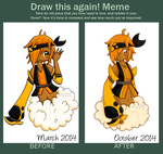 Draw this Again Meme - March and October 2014 by Azoony