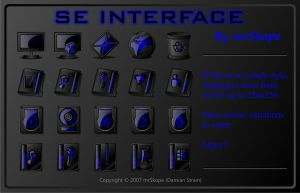 SE Interface blue by mrSkope