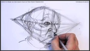 Draw An Old Man's Face In Two Point Perspective 18 by drawingcourse