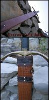 Thin leather sheath by Bear-Crafter