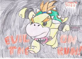 Bowser Jr on the run by Dengen-Toshiko