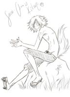 Kitsune sketch :3 by Suobi-chan