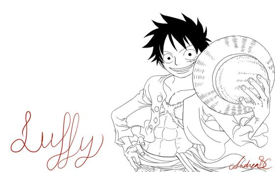Monkey D. Luffy ~ One Piece by andrewsmonster