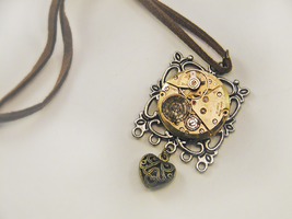 Steampunk Heart Necklace by GildedGears